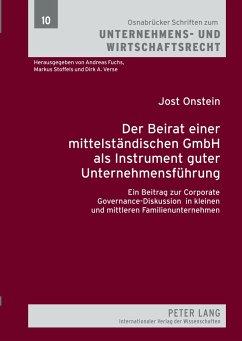 Der Beirat einer mittelständischen GmbH als Ins...