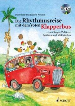 Die Rhythmusreise mit dem roten Klapperbus, m. Audio-CD