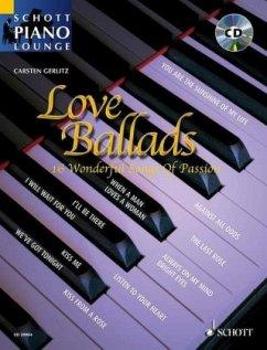 Love Ballads, für Klavier, m. Audio-CD