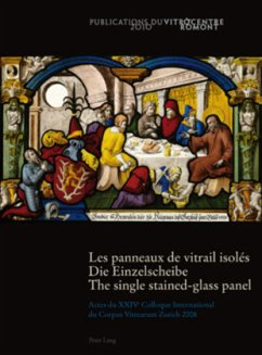 Les panneaux de vitrail isolés. Die Einzelscheibe . The single stained-glass panel