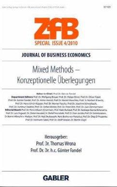 Mixed Methods - Konzeptionelle Überlegungen - Herausgegeben von Wrona, Thomas Fandel, Günter