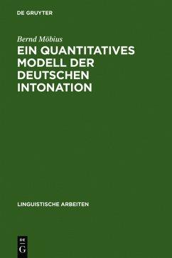 Ein quantitatives Modell der deutschen Intonation - Möbius, Bernd
