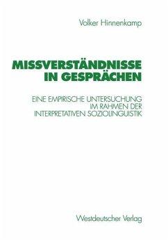 Mißverständnisse in Gesprächen - Hinnenkamp, Volker