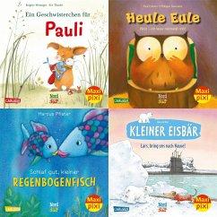 Maxi-Pixi-4er-Set 79: Bilderbuch-Stars bei Maxi Pixi (4x1 Exemplar) - Weninger, Brigitte; Friester, Paul; Pfister, Marcus; De Beer, Hans