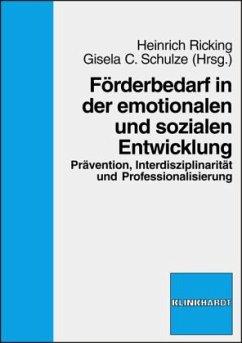 Förderbedarf in der emotionalen und sozialen En...