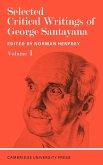 Selected Critical Writings of George Santayana