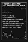Die Bedeutung der Europäischen Menschenrechtskonvention und der gemeinsamen Verfassungsüberlieferungen für den Grundrechtsschutz der Europäischen Union