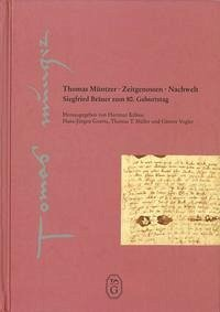 Thomas Müntzer - Zeitgenossen Nachwelt