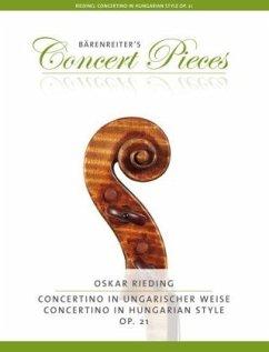 Concertino in ungarischer Weise op.21, Violine und Klavier, Violinenstimme und Klavierpartitur