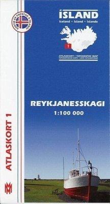 9789979331179 - Island Atlaskort 01 Reykjanesskagi 1:100.000 - Book