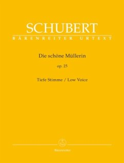 Die schöne Müllerin op.25, Lieder, Tiefe Stimme
