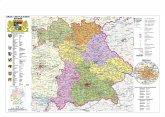 Stiefel Wandkarte Kleinformat Bayern, politisch mit Postleitzahlen, ohne Metallstäbe