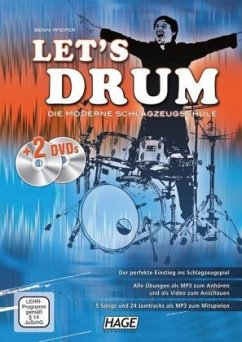 Let's Drum, m. 1 DVD u. 1 MP3-DVD - Pfeifer, Benni