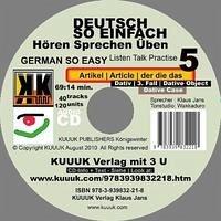 Deutsch So Einfach - Hören Sprechen Üben 5 - German So Easy - Talk Listen Practise 5 - Jans, Klaus