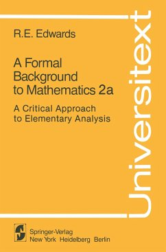 A Formal Background to Mathematics 2a - Edwards, R. E.