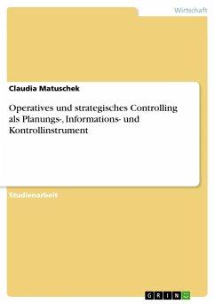Operatives und strategisches Controlling als Planungs-, Informations- und Kontrollinstrument - Matuschek, Claudia