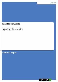 Apology Strategies - Schwartz, Maritta