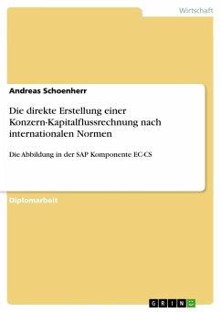Die direkte Erstellung einer Konzern-Kapitalflussrechnung nach internationalen Normen - Schoenherr, Andreas