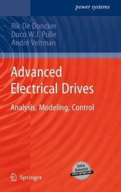 Advanced Electrical Drives - De Doncker, Rik; Pulle, Duco W.J.; Veltman, André