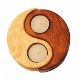 Yin-Yang Holz natur/braun 12 cm, Teelicht