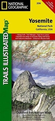 National Geographic Trails Illustrated Map Yosemite National Park ...