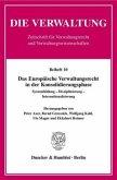 Das Europäische Verwaltungsrecht in der Konsolidierungsphase