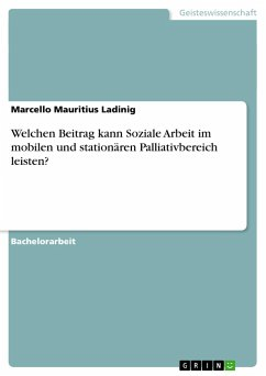 Welchen Beitrag kann Soziale Arbeit im mobilen und stationären Palliativbereich leisten? - Ladinig, Marcello Mauritius