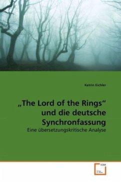 The Lord of the Rings und die deutsche Synchronfassung