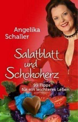 Salatblatt und Schokoherz