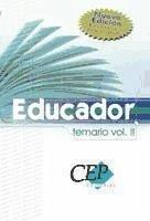 TEMARIO VOL II EDUCADOR. OPOSICIONES GENERALES