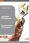 Operario Especialista, Ayuntamiento de Zaragoza. Temario y test