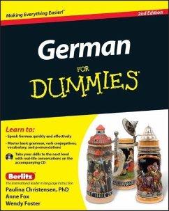 German For Dummies - Christensen, Paulina; Fox, Anne; Foster, Wendy