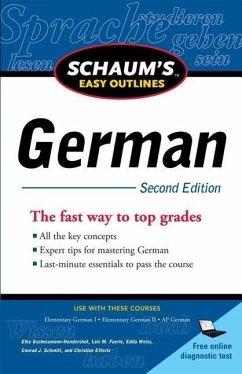 Schaum's Easy Outlines: German - Gschossmann-Hendershot, Elke