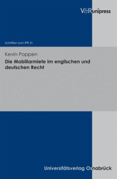 Die Mobiliarmiete im englischen und deutschen Recht - Poppen, Kevin