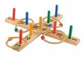 Outdoor Active Ringwurfspiel aus Holz mit 9 Stäben