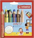 STABILO woody 3 in 1 6er Etui mit Spitzer