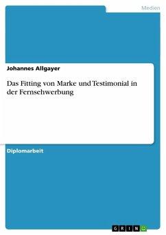 Das Fitting von Marke und Testimonial in der Fernsehwerbung - Allgayer, Johannes