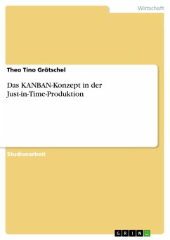 Das KANBAN-Konzept in der Just-in-Time-Produktion - Grötschel, Theo Tino