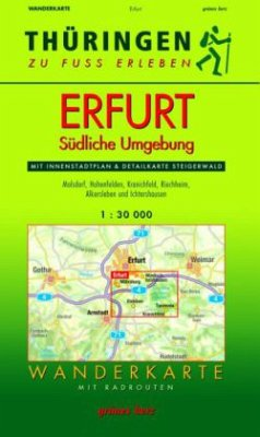 Wanderkarte Erfurt, Südliche Umgebung