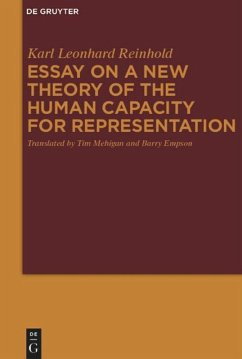 New Theory of the Human Capacity for Representation - Reinhold, Karl Leonhard