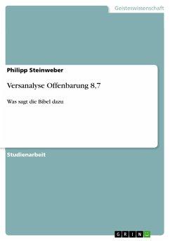Versanalyse Offenbarung 8,7 - Steinweber, Philipp