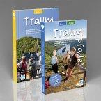 Traumpfade Geschenk-Set. Zwei Bände mit 37 Top-Touren an Rhein, Mosel und in der Eifel. Detail-Karten, GPS-Daten und Höhenprofile.