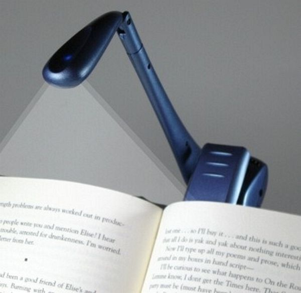 clip on led booklight blau leselampe portofrei bei b kaufen. Black Bedroom Furniture Sets. Home Design Ideas