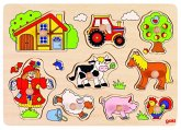 Goki 57995 - Steckpuzzle, Bauernhof VI