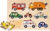 Goki 57996 - Steckpuzzle, Verkehrsmittel