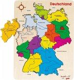 Goki 57860 - Einlegepuzzle Deutschland