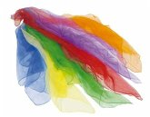 Goki 15382 - Jongliertücher, 6er Set farbige Tücher aus Nylon