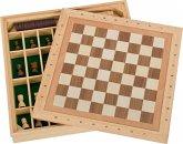 Spiele-Set Schach, Dame und Mühle