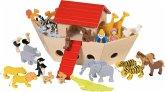 Goki 51846 - Arche Noah, Holz inkl. 30 Tiere, Noah & Frau