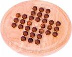 Goki HS052 - Solitaire, groß mit 32 Holzkugeln, Brettspiel, Logikspiel, Konzentrationsspiel